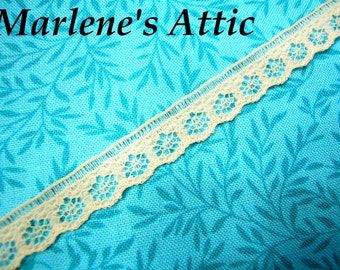 1 yards of 3/8 inch Tan Chantilly Lace trim for bridal, baby, altered couture, lingerie by MarlenesAttic - Item JH
