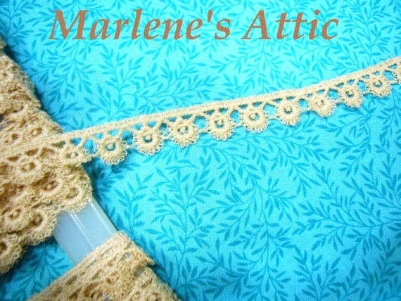 Reserved 6 yard of vintage Ecru tatted braid lace trim for sewing, crafts, costume, romantic couture by MarlenesAttic