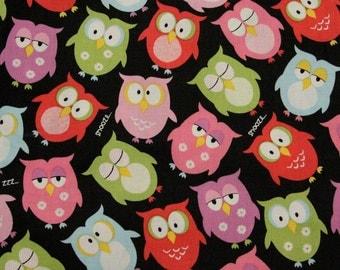 Sleepy Owl Fabric - HALF YARD