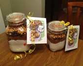 Triple Chip Cookie Mix in a Mason Jar Gift PDF Instructions How To  Make