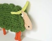 Flat Crocheted Sheep Decor Toy