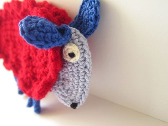 Flat Crocheted Sheep, Sheep Ornament, Sheep Figurine