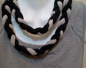 Braided Recycled T Shirt Necklace Lariat Eternity Infinity
