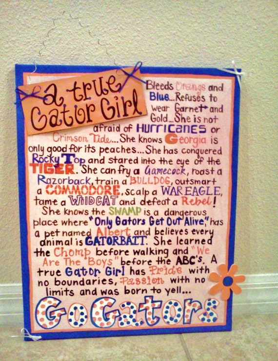 A True Gator Girl Canvas