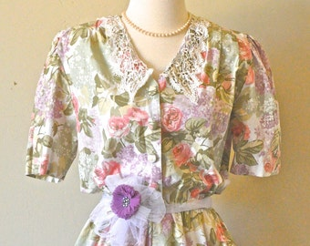 Vintage 80's does 50's Lucy Garden Party Dress