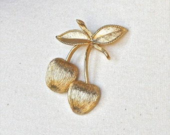 Vintage Sarah Conventry Golden Cherries Brooch
