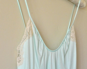 Vintage Mint and Lace Sexy Nightgown
