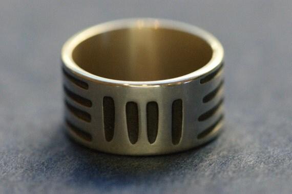 BASKETWEAVE RING (oxidised)