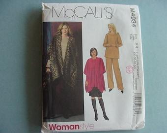 UNCUT 2005 McCall's Pattern 4934 Misses Jacket, Top, Pants, Skirt Plus Size 18W-24W