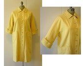 Vintage Coat Yellow Wool 60s Dressy Coat Small - Extra Small Travelaire