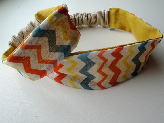 Chevron Headband Set- Matching Adult and Infant Reversible Headbands FREE SHIPPING