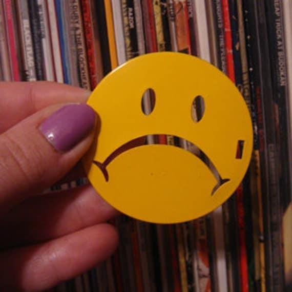 HANNAH ABELOW original Frowny Face Fan Pin