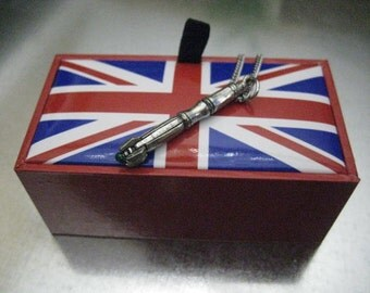 Exclusive 11th Charmed Interpreted Necklace in UK Union Jack Gift Box