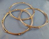 Three silver toned Bracelets. (B37)
