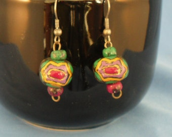 Vintage Southwestern colorful dangled earrings (P27)