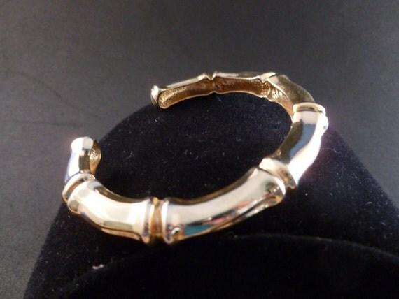 Gold bamboo bracelet (B22)