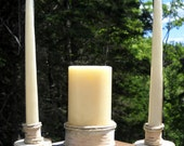 Rustic Birch Log Wedding Unity Candle holders By Unity Shoppe