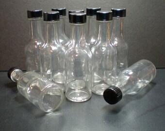8 Mini Glass Liquor Bottles Size 4.5 inch tall