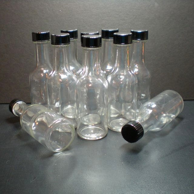25 Mini Glass Liquor Bottles Size 4 5 Inch Tall