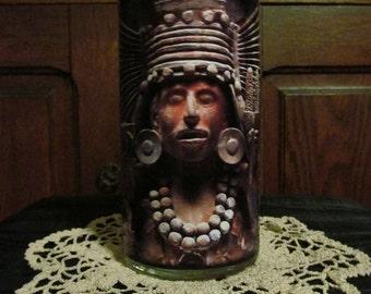 Mayan Corn Maize Goddess Candleholder