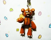 Grizzly Teddy Cell Phone Charm