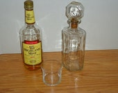 1940's Vintage Whiskey/Scotch/ Liquor Crystal Clear Glass Decanters -  With Original Cut Glass Stopper