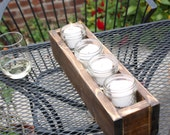 Rustic Votive box - Perfect for Weddings