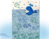Under the Sea HAPPY BIRTHDAY CARD Handmade Greeting Card for kids