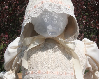 Christening Gown and Bonnet Set Hand Smocked