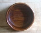 Vintage Teak Mixing Bowl, Large