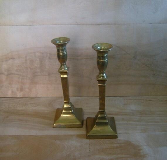 SALE - Vintage Brass Candlesticks