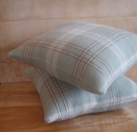 SALE - Pendleton Wool Pillow Pair, 12x13