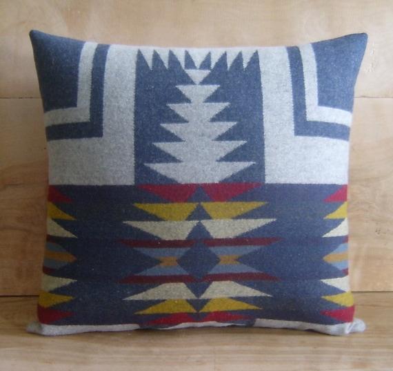 RESERVED Pendleton Wool Pillow, 14x15