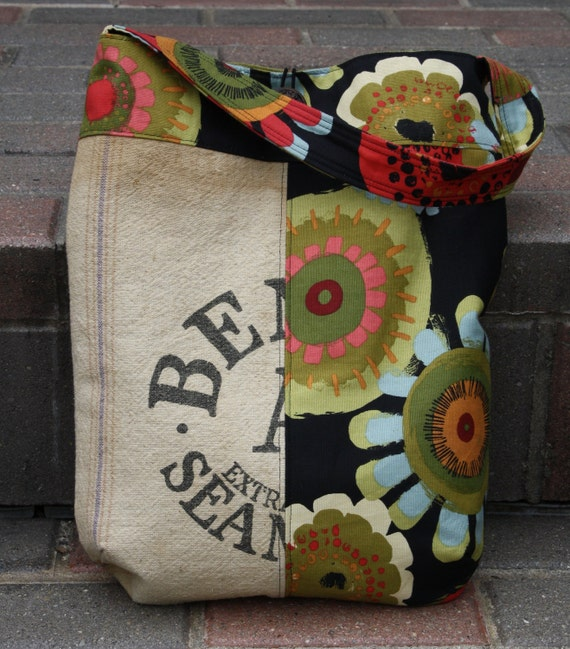 Handmade Totebag Original Purse Vintage Feed Bag Purse