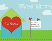 Too Cute We've Moved Postcard - Printable