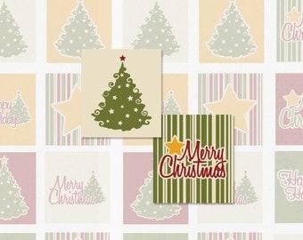 VINTAGE CHRISTMAS - 4x6 Sheet - Scrabble Size Digital Collage Sheet (Instant Download No. 1403)
