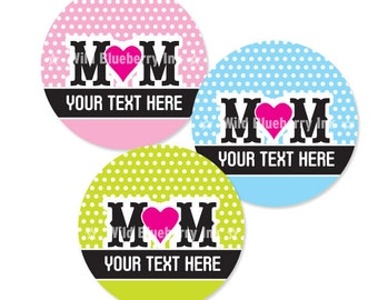MOM- 4x6 - 1 Inch Circle Editable PDF Digital Collage Sheet for Pendants, Magnets and More (Instant Download No.1035)