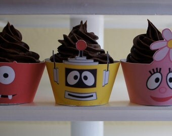 Yo Gabba Gabba Inspired Cupcake Wrappers