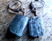 FREE SHIPPING.Check the shop banner for coupon code. no.PE1114. Natural Kyanite gemstone earrings.