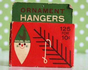 Vintage Ornament Hanger Hooks Small Box Doubl Glo
