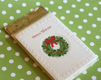 Vintage Christmas Holiday Open House Invitation
