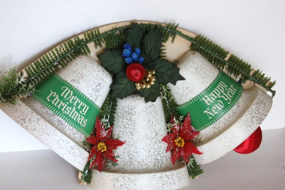Vintage Christmas Bell Wall Hanging Kitsch Decoration