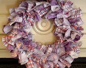 Mushroom wreath - purple and red