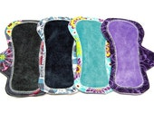 "6"" OBV or Minky and Cotton Breathable Shorty Reusable Pantyliners - Set of 4 - Customize Your Set"