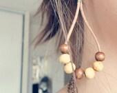 EARRINGS // wood, leather