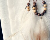 EARRINGS // wood, leather, feathers