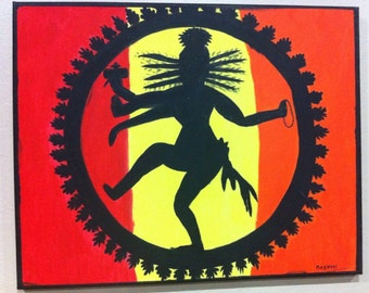 Nataraja - Dancing Shiva - Indian Folk Art