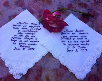 2 spanish grandmother hankies Abuela