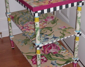 French Influence 3 Tiered Table