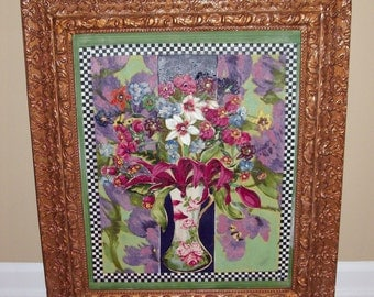Floral Reflections Wall Hanging